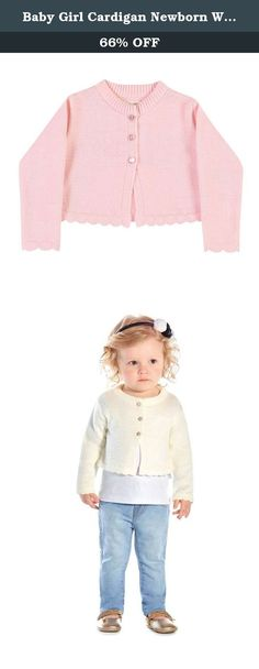 Baby Girl Cardigan Newborn Winter Knit Sweater Infants 9-12 Months - Light Pink. Look at this baby girl knit cardigan. It is a solid color, soft knit, cover up that has three buttons and ruffled trims. It has a crew neckline and is for ages 9 to 12 months. Pulla Bulla authentic collections of children apparel are made exclusively in Brazil and shipped to our customers worldwide from the United States. Please note: if your child is in between sizes, order a size up.