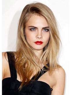 Cara Delevingne Full Lace Long Remy Human Hair Straight Wig