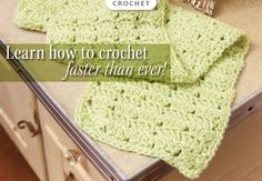 Learn how to crochet faster than ever with Annie's 100 Quick & Easy Crochet Stitches! www.AnniesCatalog.com.