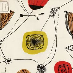 Fashion and Textile Museum Lucienne Day. Lucienne Day, Textile Prints, Textile Patterns, Textile Design, Fabric Design, Print Patterns, Graphic Pattern, Retro Pattern, Pattern Art