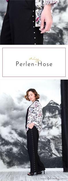 Fashion-DIY: Trend-Hose mit Perlen selbermachen