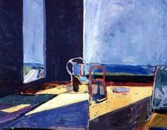 Interior with View of Ocean by Richard Diebenkorn, 1957 Oil on Canvas