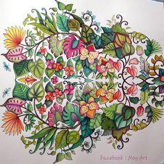 No photo description available. Colouring Pages, Coloring Books, Magical Jungle Johanna Basford, Jungle Flowers, Johanna Basford Secret Garden, Secret Garden Coloring Book, Johanna Basford Coloring Book, Color Magic, Doodles