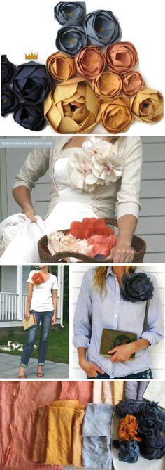 Handmade fabric flowers...