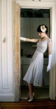 Beautiful Vintage Lace Dress!