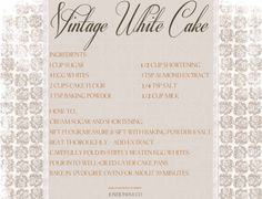 .Vintage White Cake