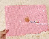 Bling and Stylish MACBOOK Pro / Air / Retina Solid Pink Crystal CASE / COVER
