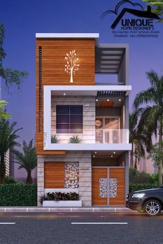 introdcing modern narrow house design in 15x50 plot G+1 exterior elevation design and implement by er. sameer khan at Unique home designer's contact for exterior work #frontelevation #uniquehomedesigners #uniqhomedesign #15x50elevation #15x50plan #15x50houseplan #15x50 #15x50exterior elevation