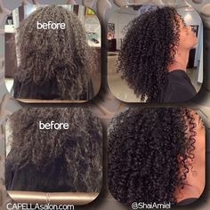 she needed to remove the buildup created by using the wrong products & a proper trim to shape it better. www.ShaiAmiel.com #DevaCut #DevaCurl