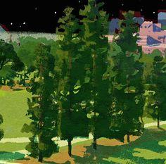 #illustration #painting #tatsurokiuchi #art #drawing #life #lifestyle #happy #japan #people #木内達朗 #イラスト #イラストレーション #trees