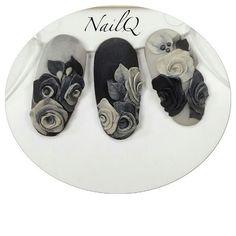 Nailq roses on nails