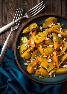 Golden Beet Salad with Pine Nuts and Goat Cheese (gluten-free, easily made vegan) | Will Cook For Friends