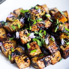 Black Garlic Tofu, Vegan, GF, so delicious! Can be made in 15 minutes flat.