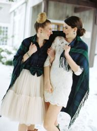 Tartan and Tulle Inspiration Shoot - Style Me Pretty