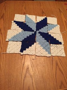 Ravelry: Project Gallery for Starburst Square pattern by Emma Wilkinson