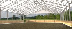Trilogy fabric roof riding arena