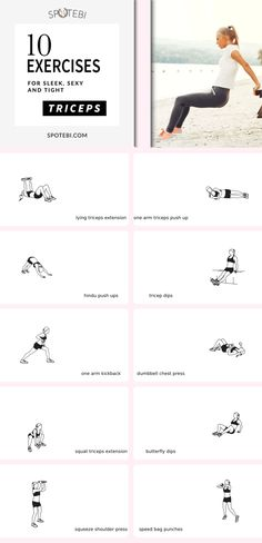 Sculpt sleek, sexy, and strong arms and shave off your bat wings with this 17-minute triceps workout! https://www.spotebi.com/workout-routines/home-triceps-workout-women-best-exercises-sculpted-sexy-toned-arms/