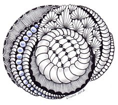 Tangle 59 by Diann 2012. Pinned from her folder, visit for more Zentangles http://pinterest.com/dian0913/zentangle-inspired-my-art/