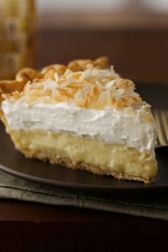 This pie is a favorite for coconut lovers!