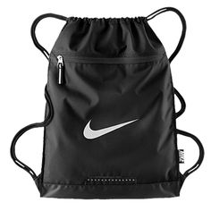 Nike Team Training Gymsack: The Nike Team Training Gym Sack helps you organize your gear with an interior divider and bonded zip pocket. Water-resistant fabric with a PU-coated bottom keeps your essentials dry and secure. Mens Gym Bag, Gym Men, Nike Bags, Gym Bags, Nike Gym Bag, Best Gym, Bag Packaging, School Bags, Drawstring Backpack