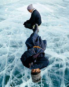 fredericlagrangephotography:Resting on frozen lake     Mongolia-book project     Khövsgöl Nuur lake, Mongoliafrédériclagrange.comMongolia-book project