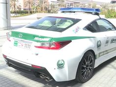 Dubai Police Adds Lexus RC F To Supercar-Heavy Patrol Fleet