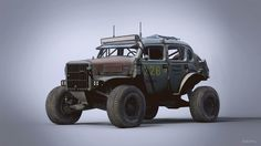 New work from Nick Foreman. Volvo Trophy Rat, modeled in Max, rendered in KeyShot. Volvo, Mad Max, Chevy Trucks, Cool Trucks, Cool Cars, Classic Trucks, Classic Cars, Vw Beach, Velo Vintage