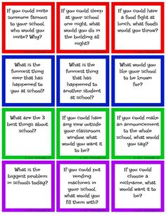 Get your kids talking about school with these FREE About School Conversation starters.