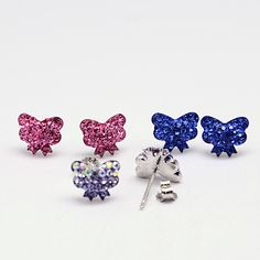 PandaHall Jewelry—Polymer Clay Czech Rhinestones Ear Studs with Sterling Silver Pins | PandaHall Beads Jewelry Blog