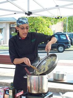 Who I'm most looking forward to seeing at Capital Food Fight- Chef Carla Hall. Carla adding some her secret ingredient- love! I appreciate that she emphasizes using love when you prepare food!