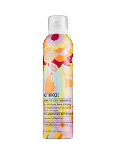 """""""I'm obsessed with dry shampoo. Last year, my hairdresser introduced me to this one from Amika, and literally any time I go anywhere and spot it, I buy a can. I put it in my hair before and after I work out. I'll spray it while my hair is down and put my hair in a ponytail. I'll always take a shower after working out, but I don't always wash my hair, so I'll spray this in after to soak up the grease and make my hair smell amazing."""""""