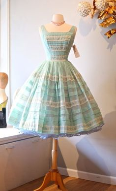 Vintage 1950s Prom Dress Vintage 50s Dress by xtabayvintage