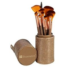 BH Cosmetics Shimmering Bronze 12 Piece Brush Set -- Read more at the image link. (This is an affiliate link) #MakeupBrushesTools