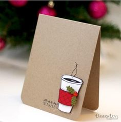 Warm Wishes DIY Christmas Card | Love this warming homemade Christmas card.