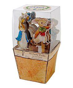 Love this Peter Rabbit & Friends Party Picks - Set of 24 on #zulily! #zulilyfinds