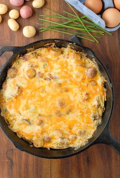 Smoky Ham Cheese Potato Frittata
