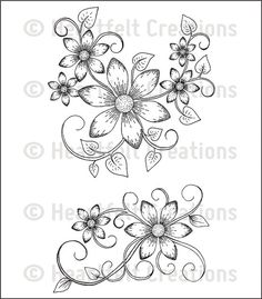 Heartfelt Creations Sun Kissed Cling Rubber Stamp Set Swirls at Joann.com