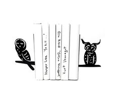Decorative Bookends // A Pair of wise by DesignAtelierArticle