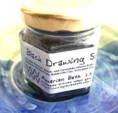 Black Drawing Salve 1.5 oz -  If you enjoy being active in the great outdoors, you're going to like having a jar of Aquarian Bath's Black Drawing Salve on hand as defense against irritation from insect bites and stings, splinters, scrapes, or even coral cuts. The key ingredient in this salve is Activated Coconut Charcoal. Activated Charcoal is a toxin-binding material with an incredible surface area and binding capability. When combined with the drawing forces ...