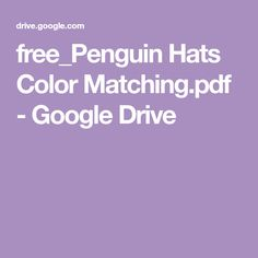 FREE color matching activity with penguins dressed in winter clothes. Great for toddlers and preschoolers learning colors and color words. Mix and match the penguins' hats to create different outfits. Color Activities For Toddlers, Preschool Colors, Puzzles For Toddlers, Preschool Learning Activities, Kindergarten Lessons, Free Preschool, Book Activities, Preschool Activities, Winter Activities