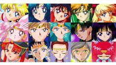 All Sailor Senshi in all Sailor Moon series