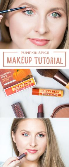 Fall is officially here and that can only mean one thing: Pumpkin spice everything! Give your beauty routine a makeover for fall and try out this Pumpkin Spice Makeup Tutorial with orange-hued eye shadow and lipstick. The key to keeping your lips looking fresh all day is by moisturizing first with Burt's Bees Pumpkin Spice Lip Balm. This makeup will pair perfectly with your favorite fall outfits!