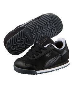 Black Roma Basic Geometric Camo Sneaker - Infant & Boys