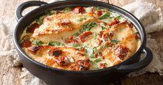 Mäkučké kuracie steaky vo fantastickej omáčke. Creamy Italian Chicken, Italian Chicken Recipes, Cooked Chicken Recipes, Bacon Recipes, Quick Recipes, Crockpot Recipes, Cooking Recipes, Bechamel, One Pan Meals
