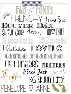 free fonts, classic & modern fonts, dingbat fonts