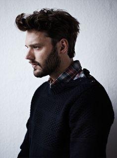 Scotch & Soda: plaid shirt, navy sweater