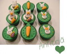 cupcakes de Páscoa com coelhos e cenouras| Anfitriã como receber em casa, receber, decoração, festas, decoração de sala, mesas decoradas, enxoval, nosso filhos