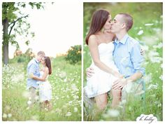 Anniversary session - queen anne's lace field (engagement photography)