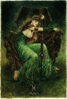 Queen of wands  #  labyrinth tarot.