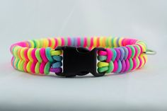 Rainbow Tie Dye Paracord Dog Collar by paracordmutts on Etsy, $20.00